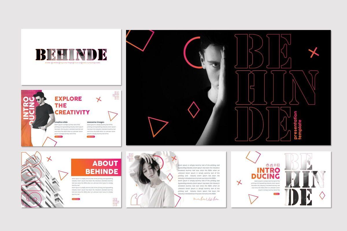 Behinde - PowerPoint Template, Slide 2, 07030, Presentation Templates — PoweredTemplate.com