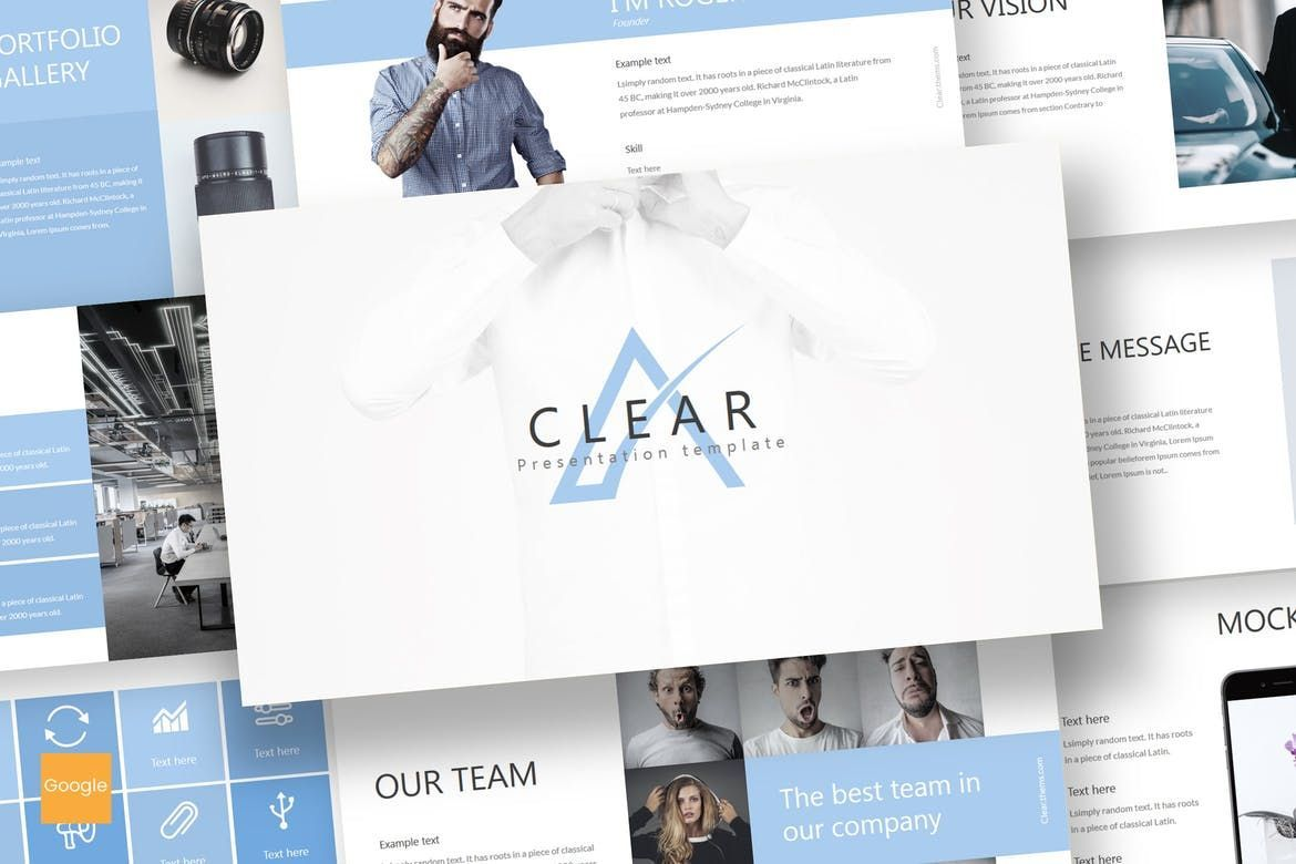 Clear - Google Slides Template, 07031, Presentation Templates — PoweredTemplate.com