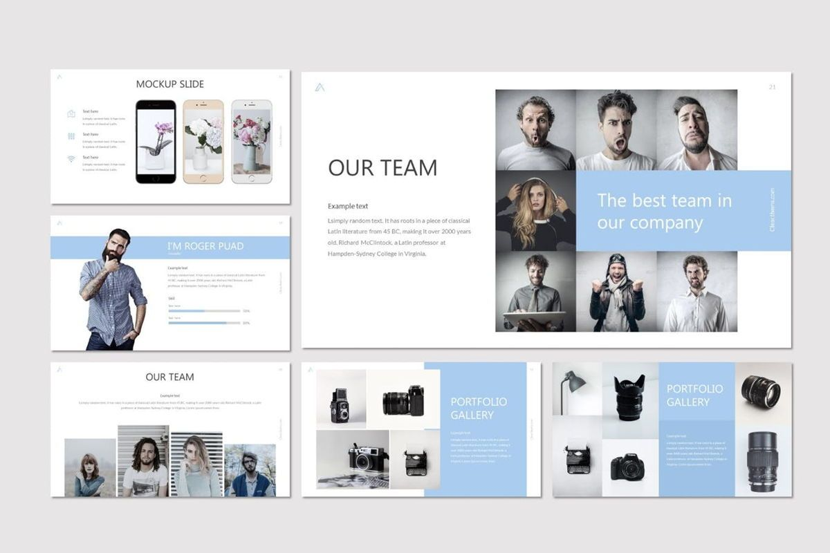 Clear - Google Slides Template, Slide 4, 07031, Presentation Templates — PoweredTemplate.com