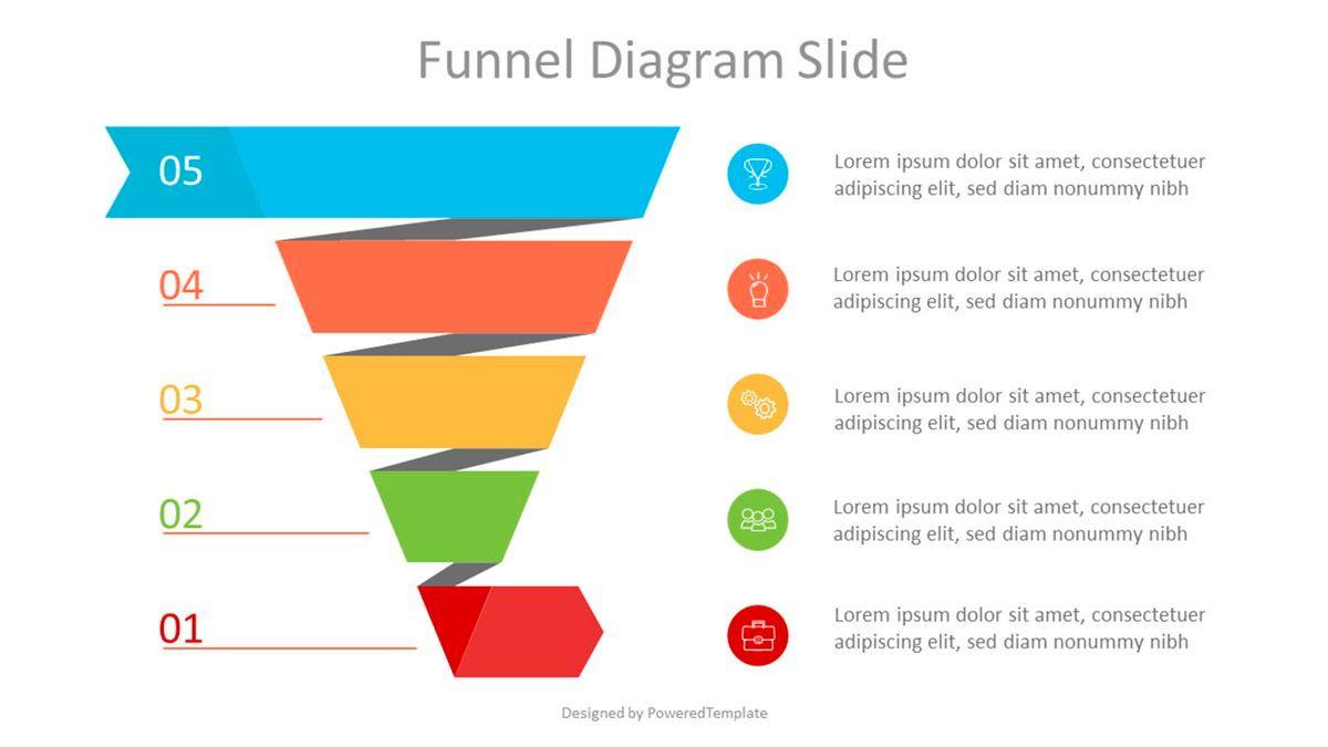 Spiral Sales Funnel Infographic, 07033, Business Models — PoweredTemplate.com