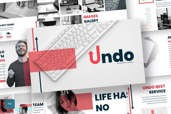 Presentation Templates: Undo - Keynote Template #07037