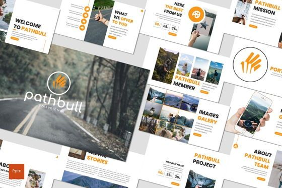 Presentation Templates: Pathbull - PowerPoint Template #07040