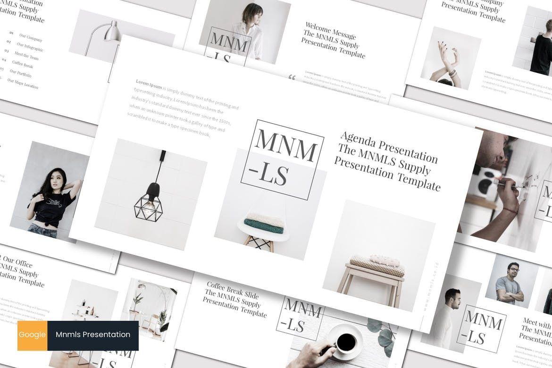 mnmls - Google Slides Template, 07041, Presentation Templates — PoweredTemplate.com