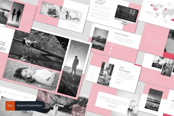Presentation Templates: Dreams - PowerPoint Template #07042