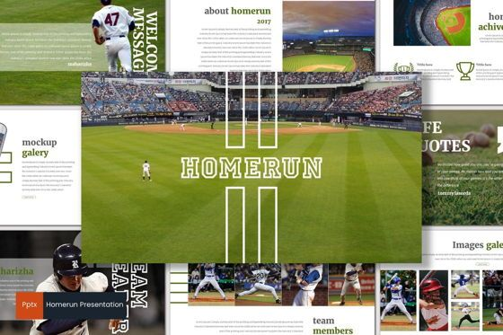 Presentation Templates: Homerun - PowerPoint Template #07045