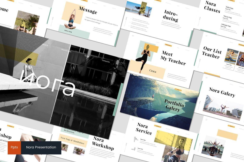 Nora 2 - PowerPoint Template, 07046, Presentation Templates — PoweredTemplate.com