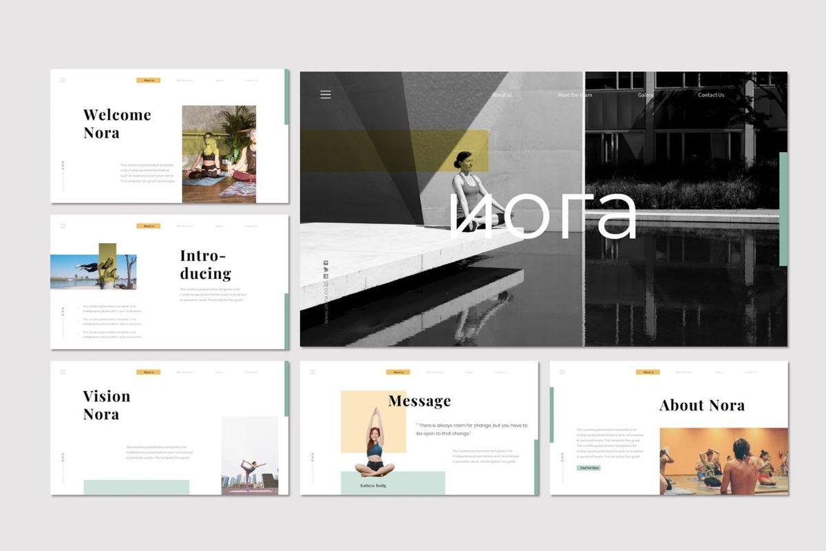 Nora 2 - PowerPoint Template, Slide 2, 07046, Presentation Templates — PoweredTemplate.com