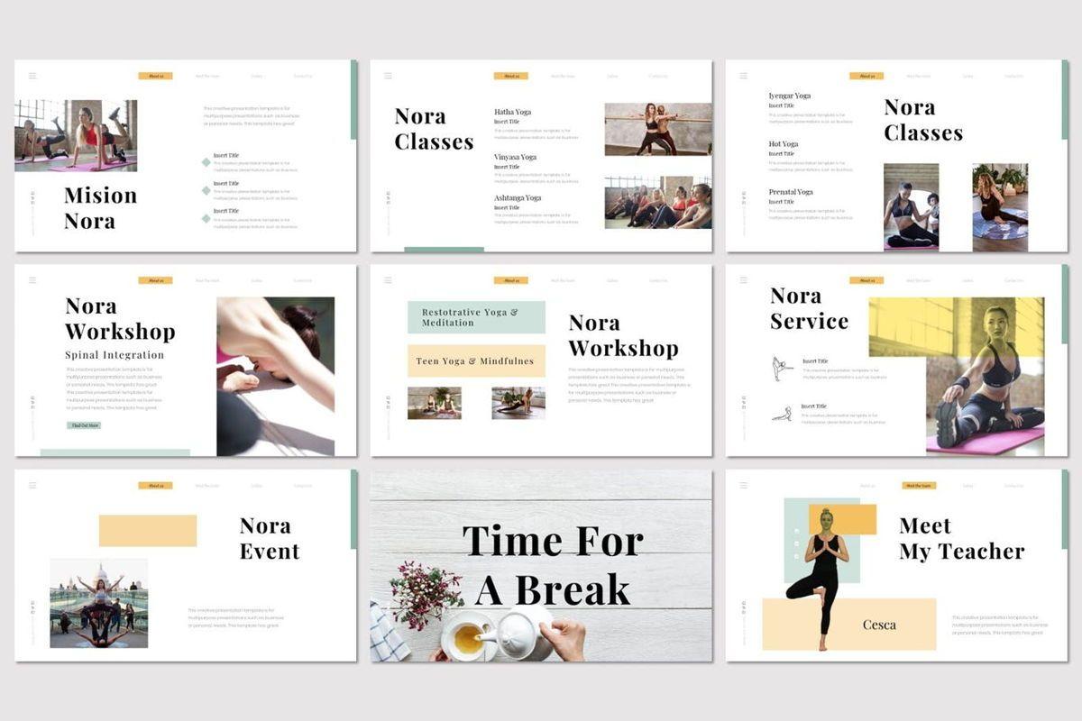 Nora 2 - PowerPoint Template, Slide 3, 07046, Presentation Templates — PoweredTemplate.com