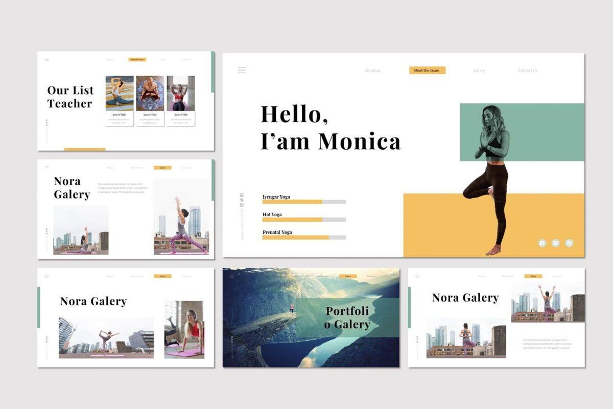 Nora 2 - PowerPoint Template, Slide 4, 07046, Presentation Templates — PoweredTemplate.com