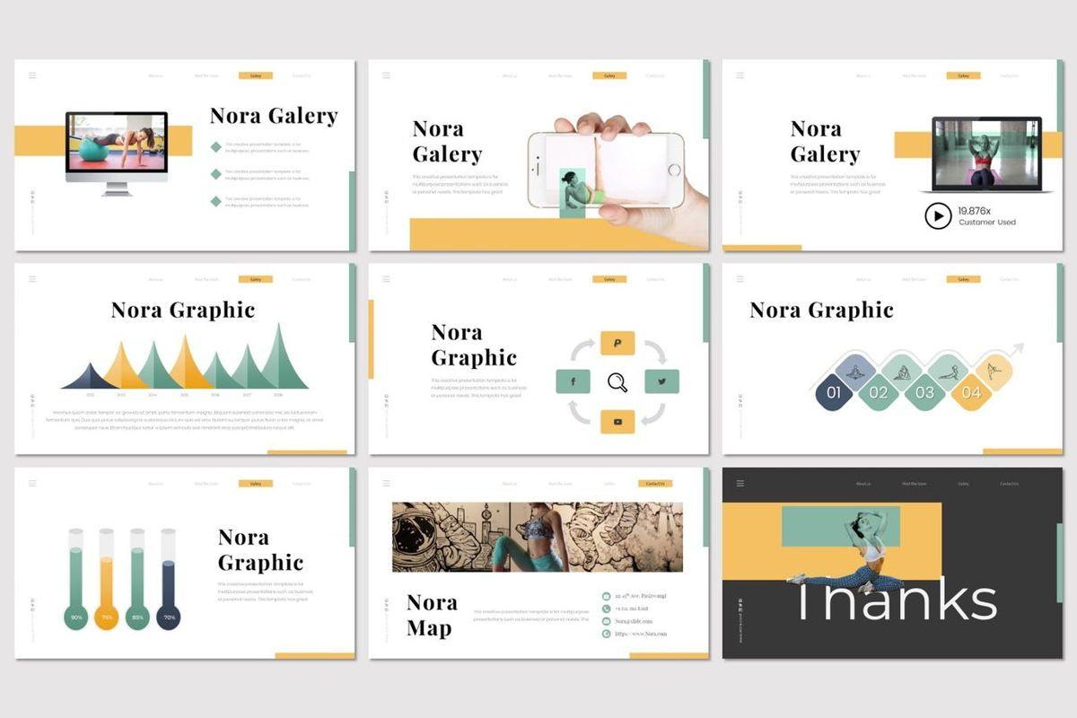 Nora 2 - PowerPoint Template, Slide 5, 07046, Presentation Templates — PoweredTemplate.com