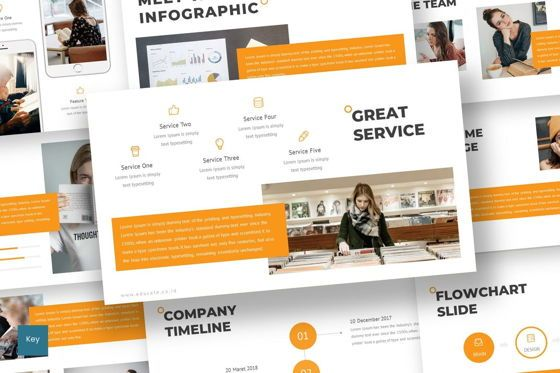 Education Charts and Diagrams: Educate - Keynote Template #07047