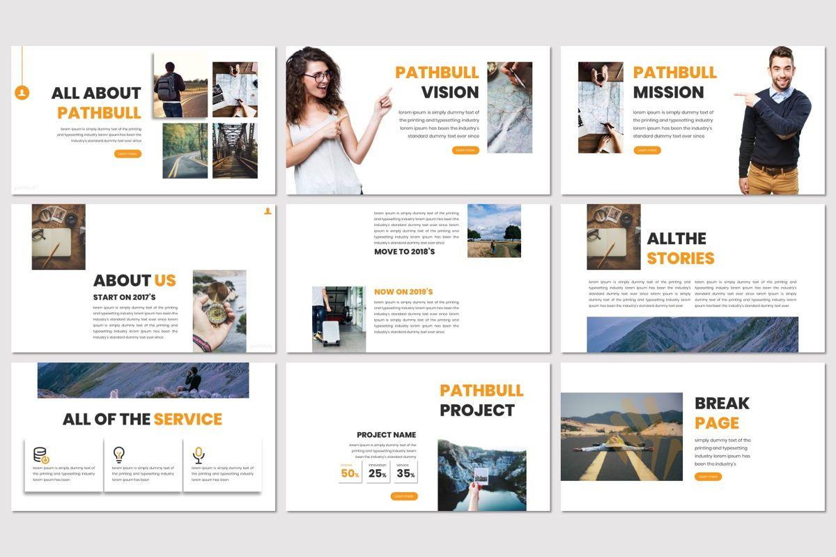 Pathbull - Google Slides Template, Slide 3, 07049, Presentation Templates — PoweredTemplate.com
