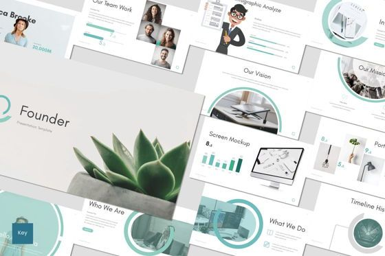 Presentation Templates: Founder - Keynote Template #07050