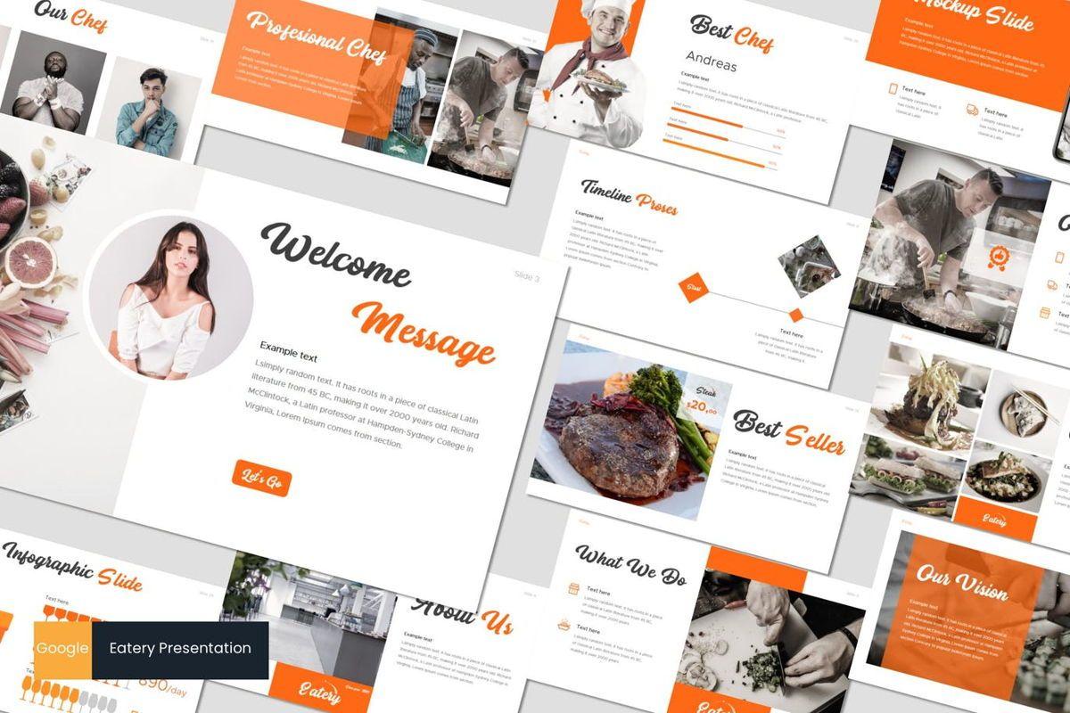Eatery - Google Slides Template, 07053, Presentation Templates — PoweredTemplate.com