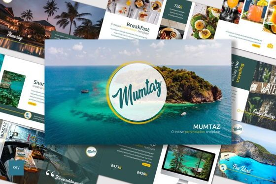 Presentation Templates: Mumtaz - Keynote Template #07055