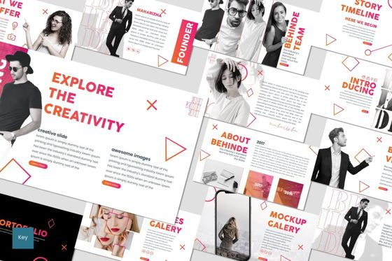 Presentation Templates: Behinde - Keynote Template #07056