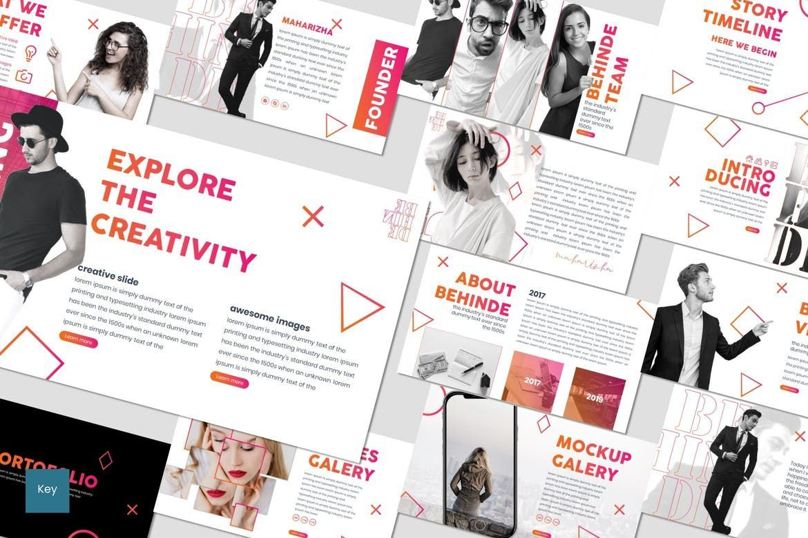 Behinde - Keynote Template, 07056, Presentation Templates — PoweredTemplate.com