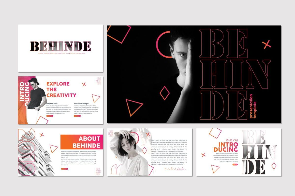 Behinde - Keynote Template, Slide 2, 07056, Presentation Templates — PoweredTemplate.com