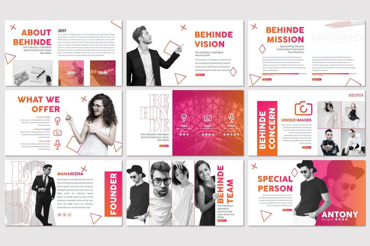 Behinde - Keynote Template, Slide 3, 07056, Presentation Templates — PoweredTemplate.com