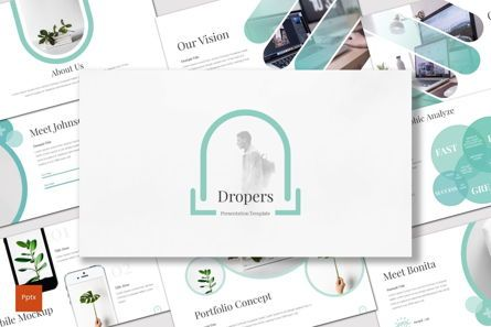 Presentation Templates: Dropers - PowerPoint Template #07057