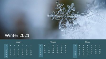 Timelines & Calendars: Calendar 2021 Year for Presentations #07064
