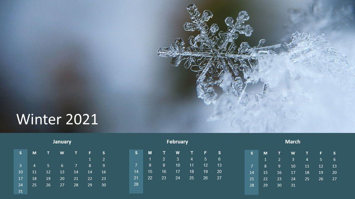 Calendar 2021 Year for Presentations, 07064, Timelines & Calendars — PoweredTemplate.com