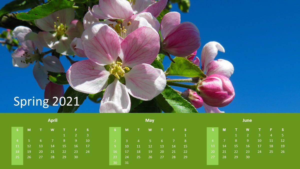 Calendar 2021 Year for Presentations, Slide 2, 07064, Timelines & Calendars — PoweredTemplate.com