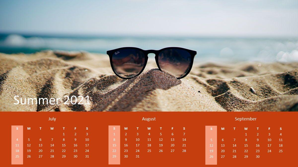 Calendar 2021 Year for Presentations, Slide 3, 07064, Timelines & Calendars — PoweredTemplate.com