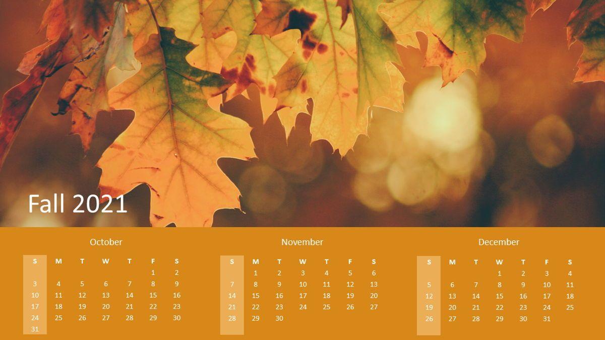 Calendar 2021 Year for Presentations, Slide 4, 07064, Timelines & Calendars — PoweredTemplate.com