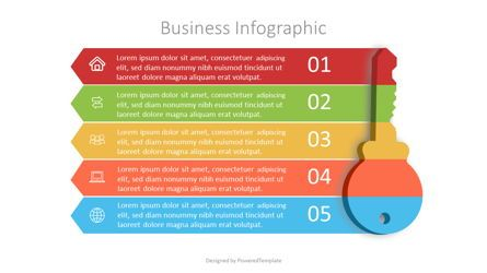 Infographics: Business Infographic Made of Key #07065