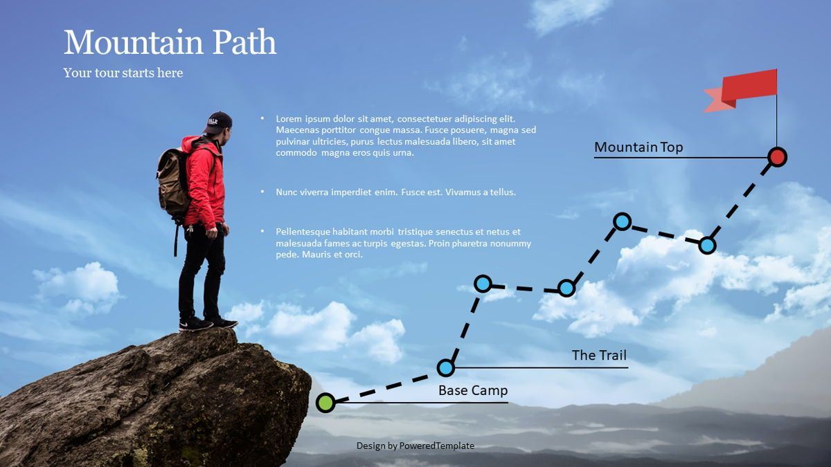 Mountain Path Infographic, 07070, Infographics — PoweredTemplate.com