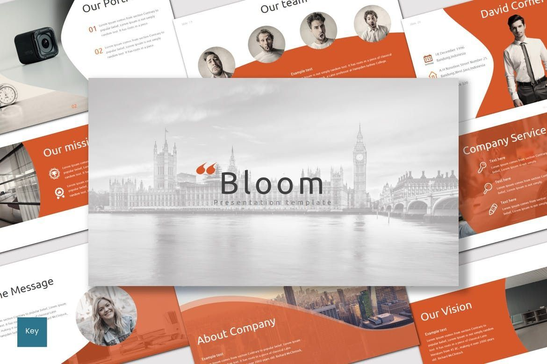 Bloom - Keynote Template, 07071, Presentation Templates — PoweredTemplate.com
