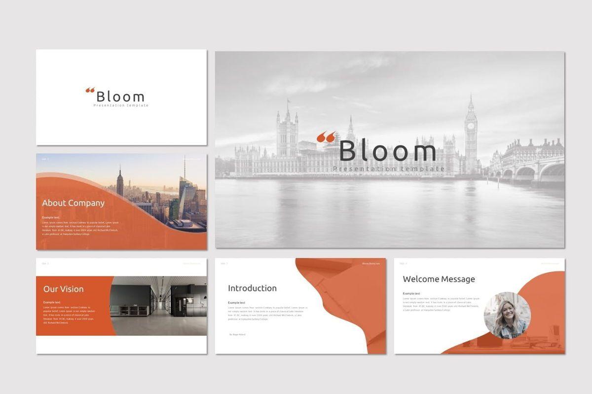 Bloom - Keynote Template, Slide 2, 07071, Presentation Templates — PoweredTemplate.com
