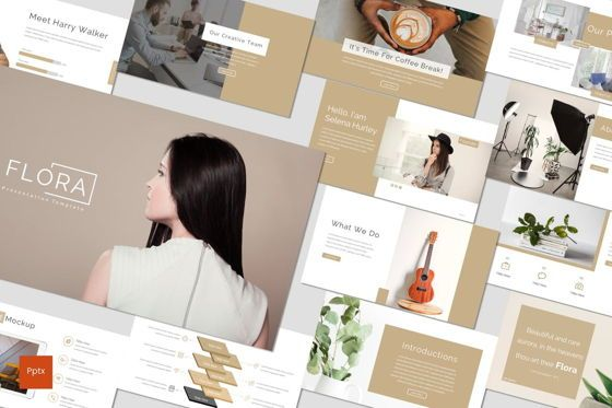 Presentation Templates: Flora - PowerPoint Template #07075