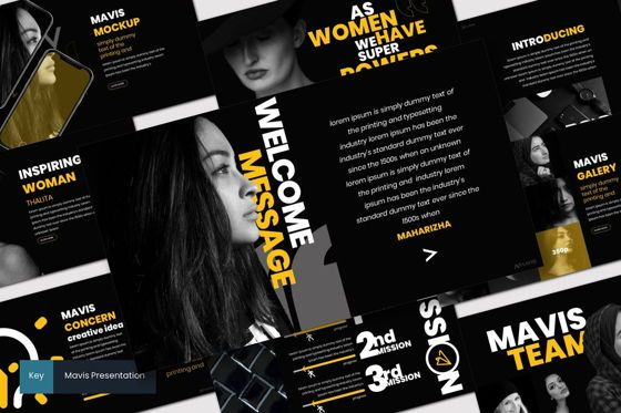 Presentation Templates: Mavis - Keynote Template #07076