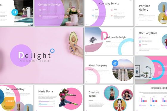 Presentation Templates: Delight - Google Slides Template #07077