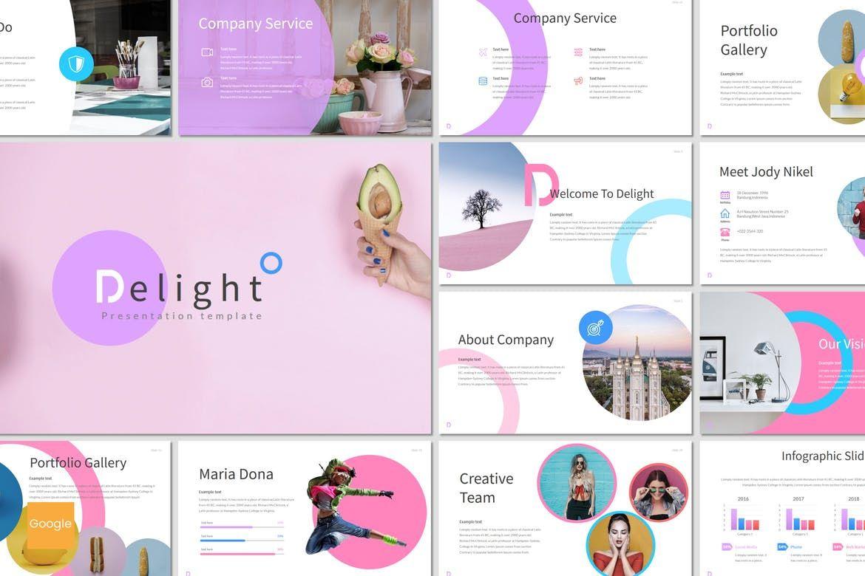Delight - Google Slides Template, 07077, Presentation Templates — PoweredTemplate.com