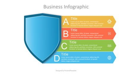 Infographics: Protection Shield with 5 Options #07079