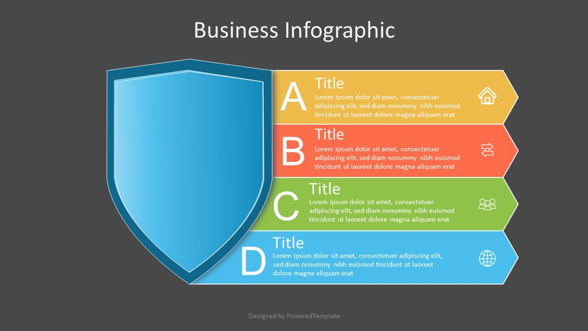 Protection Shield with 5 Options, Slide 2, 07079, Infographics — PoweredTemplate.com