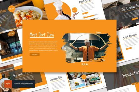 Presentation Templates: Fooder - PowerPoint Template #07080