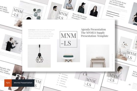 Presentation Templates: Mnmls - PowerPoint Template #07081