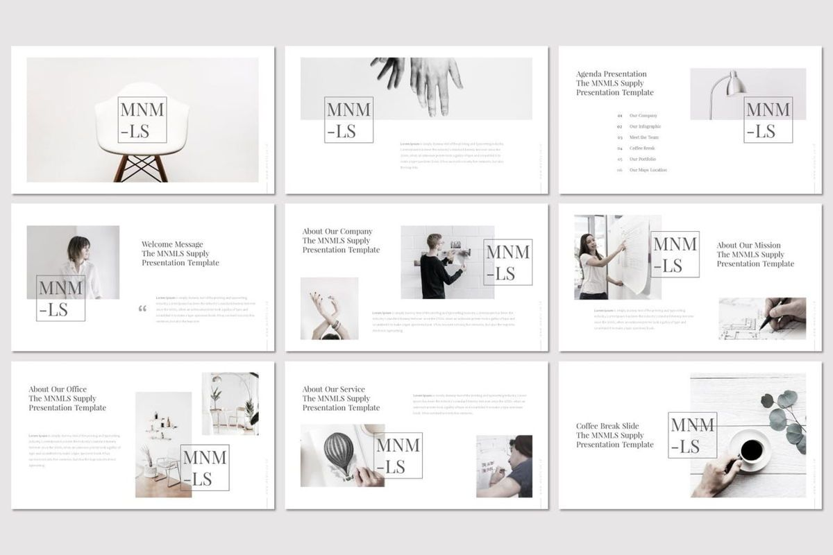 Mnmls - PowerPoint Template, Slide 2, 07081, Presentation Templates — PoweredTemplate.com