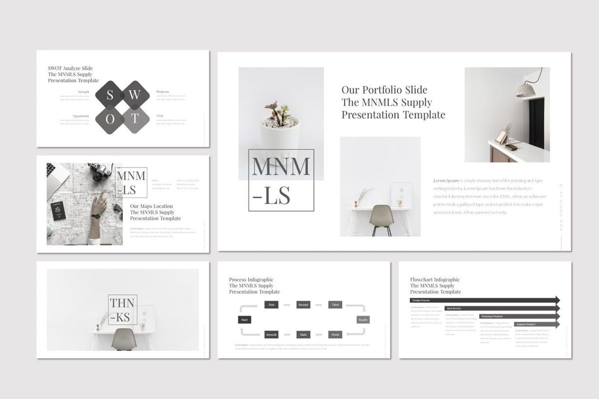 Mnmls - PowerPoint Template, Slide 5, 07081, Presentation Templates — PoweredTemplate.com