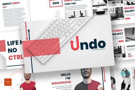 Presentation Templates: Undo - PowerPoint Template #07082