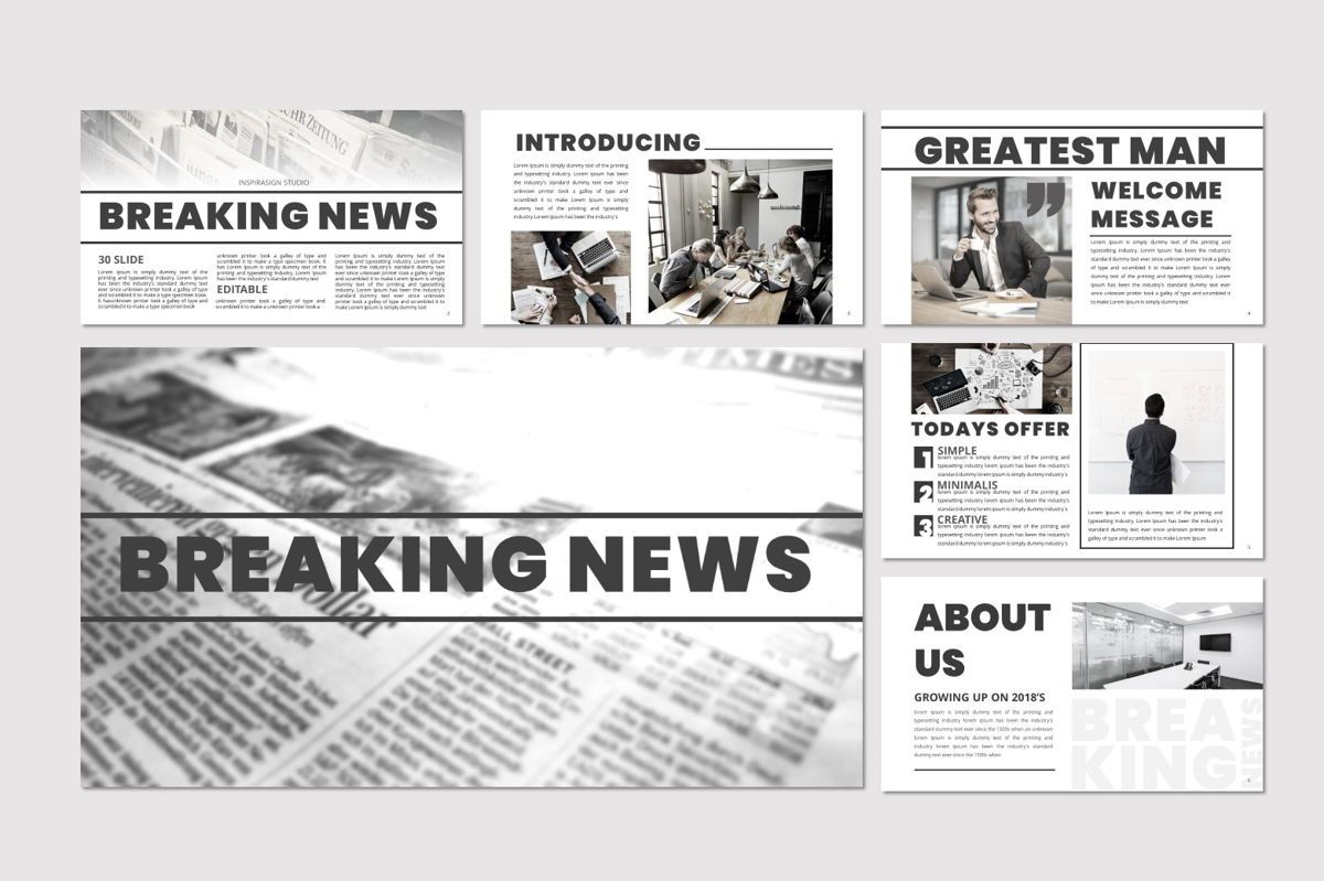 Breaking News - Google Slides Template, Slide 2, 07083, Presentation Templates — PoweredTemplate.com