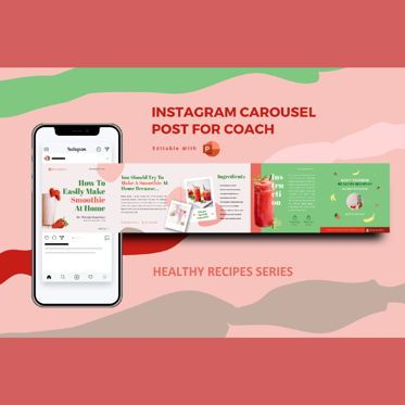 Presentation Templates: Healthy recipe creator coach - instagram carousel powerpoint template #07087