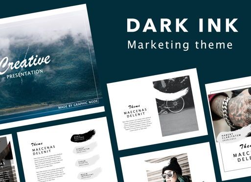 Presentation Templates: Dark Ink Keynote Presentation Template #07089