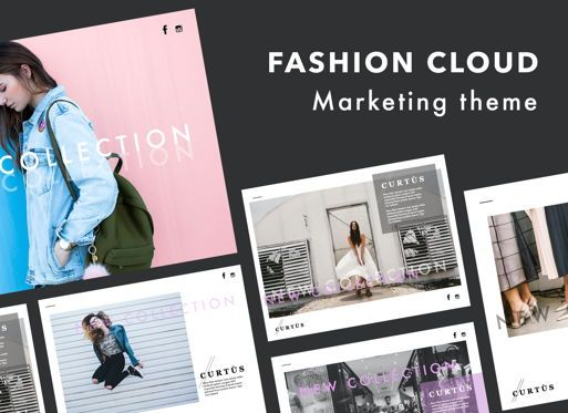 Presentation Templates: Fashion Cloud Keynote Presentation Template #07091