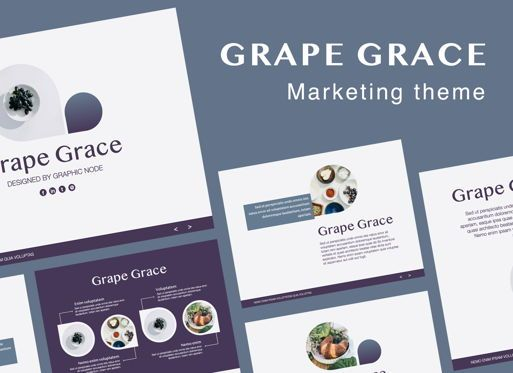 Presentation Templates: Grape Grace Keynote Presentation Template #07092