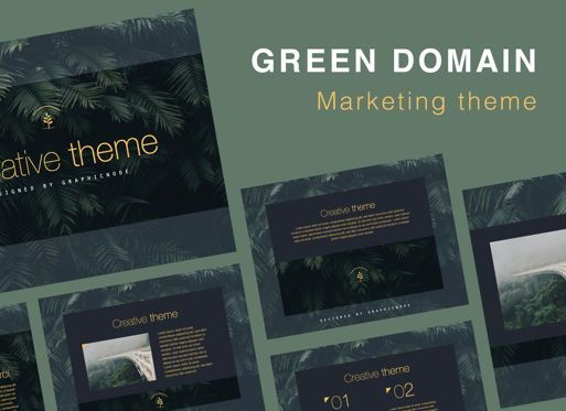 Presentation Templates: Green Domain Keynote Presentation Template #07094